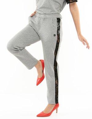 Pantalone Imperfect con dettagli in pizzo