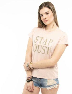 T-shirt Pepe Jeans con scritta brillantinata