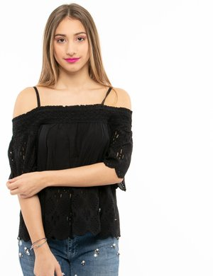 T-shirt Pepe Jeans senza spalle