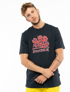 T-shirt Sundek con logo colorato