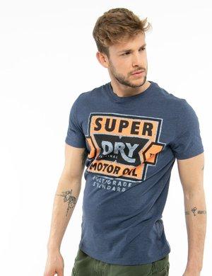 T-shirt Superdry con stampa effetto consumato