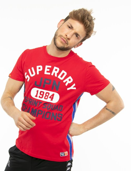 T-shirt Superdry stampata - Rosso
