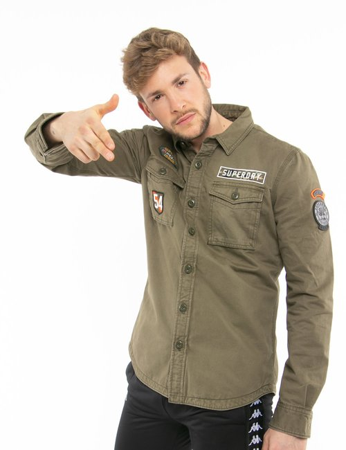 Giacca Superdry in denim - Verde