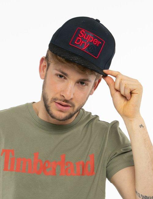 Cappellino Superdry con logo ricamato - Blu