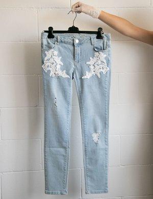 Jeans Maison Espin con ricami