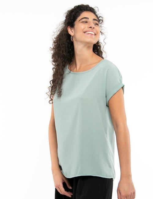 Camicia Vougue con maniche risvoltate - Verde