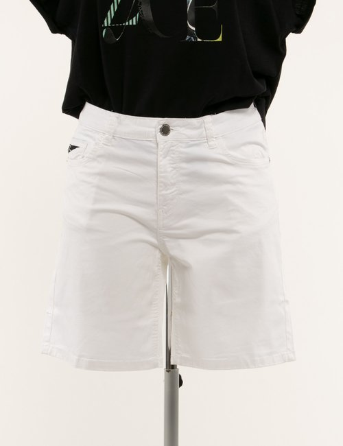 Shorts Yes Zee in cotone - Bianco