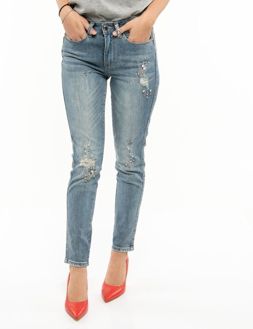 Jeans Yes Zee con applicazioni - Jeans