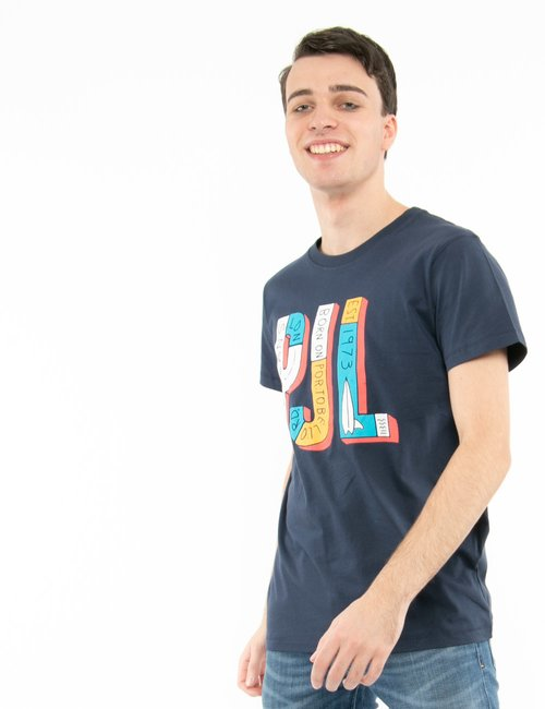 T-shirt Pepe Jeans con stampa - Blu