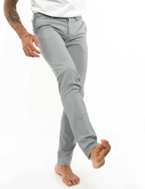 Pantalone Dimattia tessuto puntinato - Azzurro