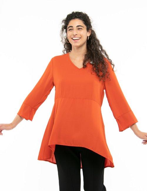 Camicia Vougue con scollo a V - Arancione