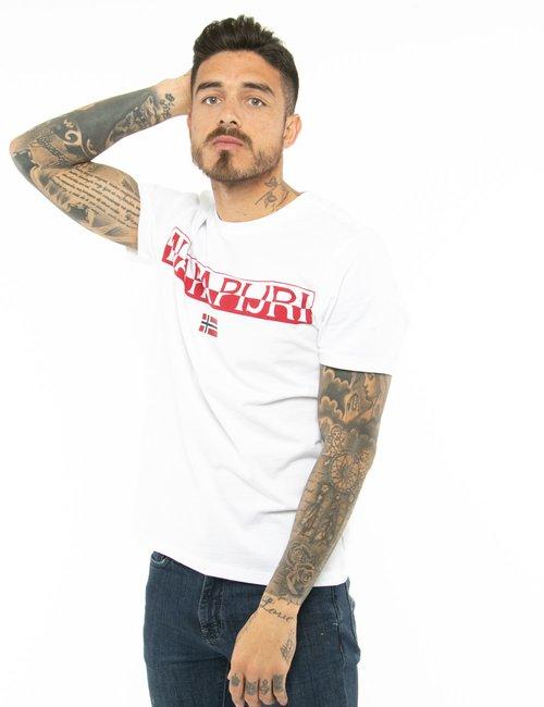 T-shirt Napapijri con logo - Bianco
