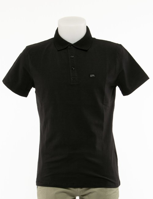 Polo Yes Zee con logo a lato - Nero