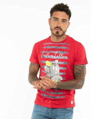 T-shirt Yes Zee con scritte in rilievo