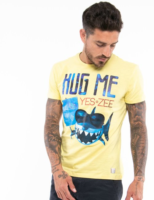 T-shirt Yes Zee con stampa - Giallo