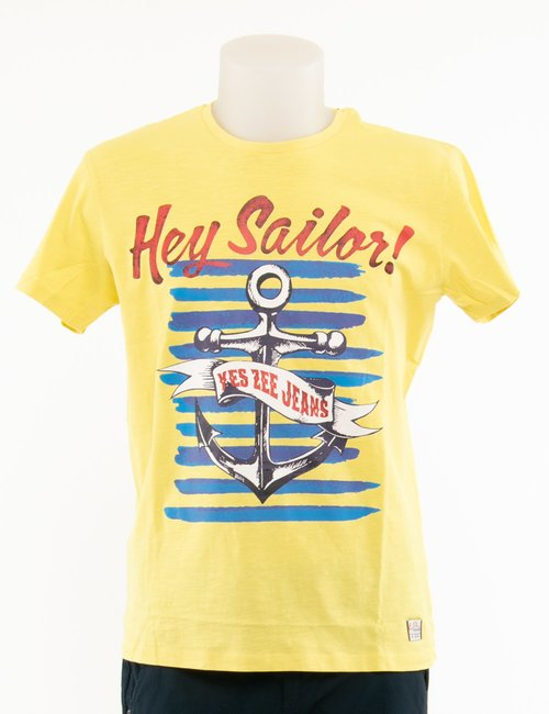 T-shirt Yes Zee maxi stampa - Giallo