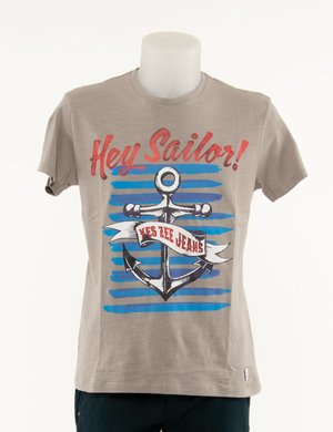 T-shirt Yes Zee maxi stampa