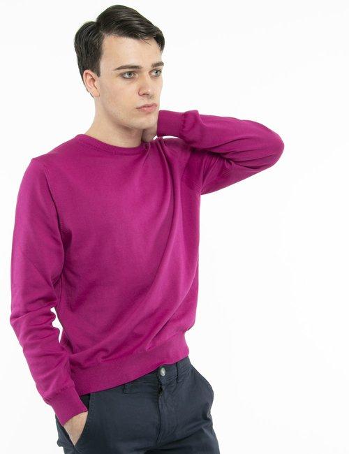 Pullover Nick Logan in cotone - Fucsia