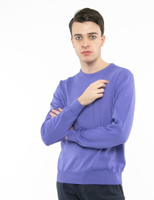 Pullover Nick Logan in cotone - Viola