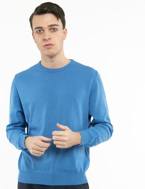 Pullover Nick Logan in cotone - Azzurro