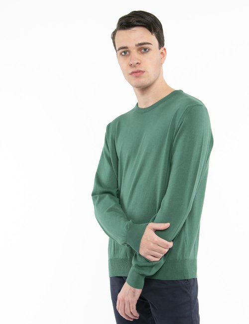 Pullover Nick Logan in cotone - Verde