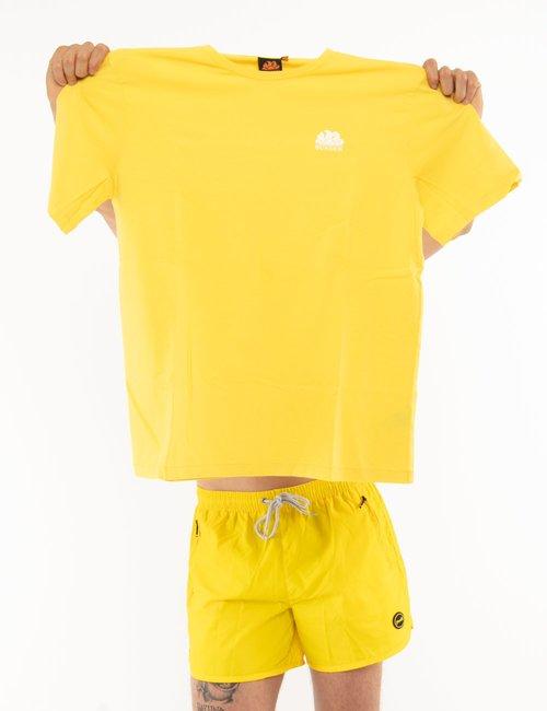 T-shirt Sundek con logo - Giallo