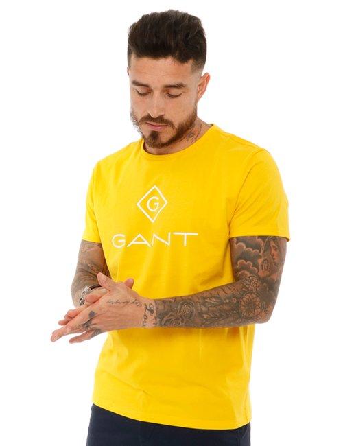 T-shirt Gant con logo stampato - Giallo