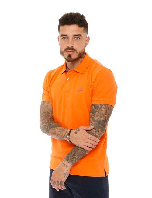 Polo Gant con logo a contrasto - Arancione