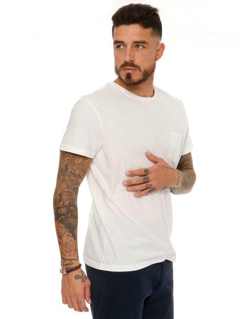 T-shirt Gant con taschino - Bianco