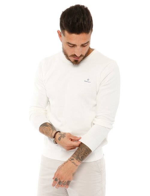 Maglione Gant girocollo - Bianco
