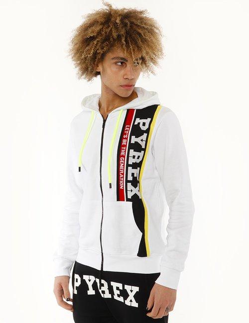 Felpa Pyrex con logo in maglia - Bianco