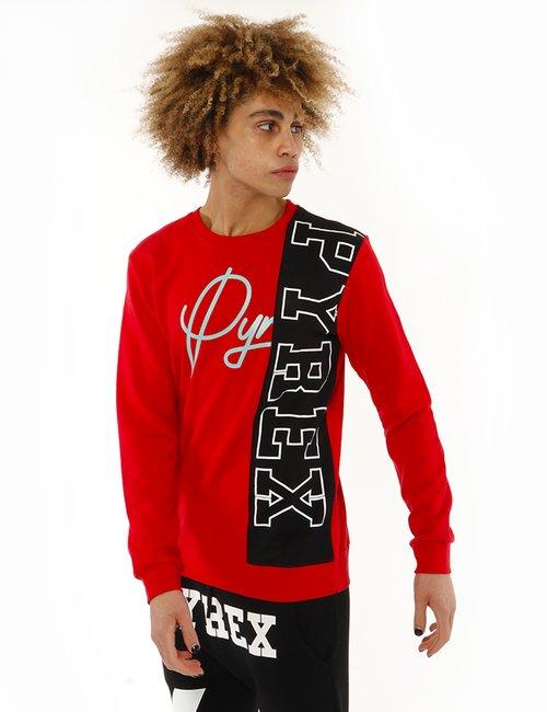 Felpa Pyrex con logo laterale - Rosso
