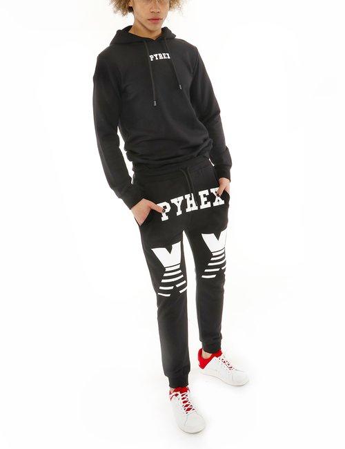 Pantalone Pyrex stampato - Nero