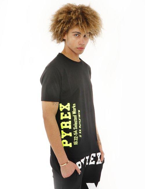 T-shirt Pyrex stampata - Nero