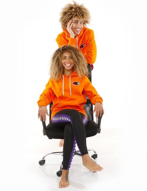 Felpa  Champion in cotone - Arancione