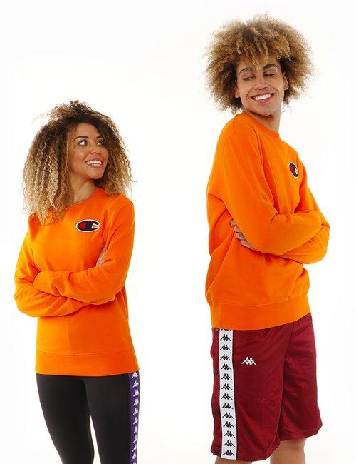 Felpa Champion con logo - Arancione