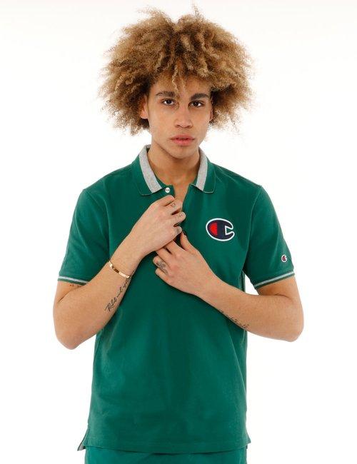 Polo Champion con logo - Verde