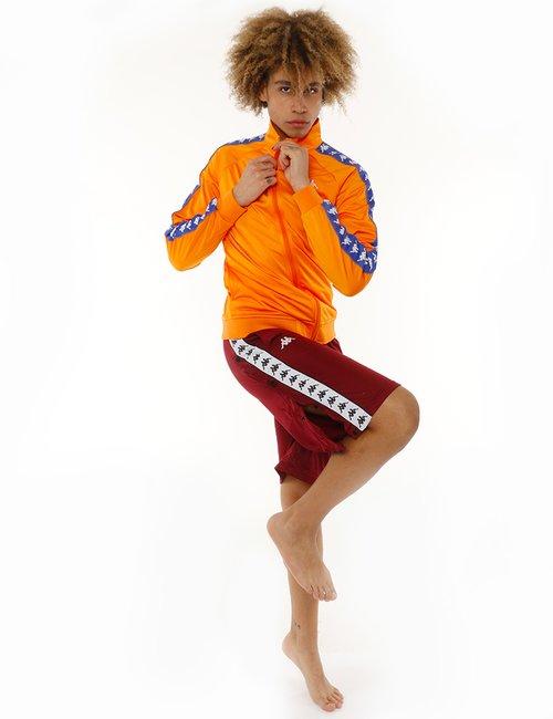 Pantalone Kappa con bottoni laterali - Bordeaux