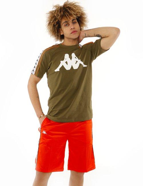 T-shirt Kappa con logo stampato - Verde