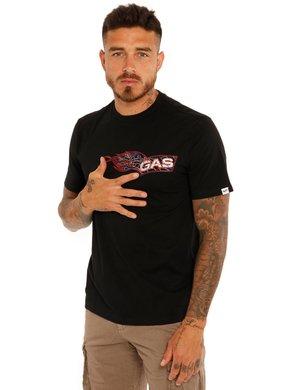 T-shirt Gas logo con fiamma