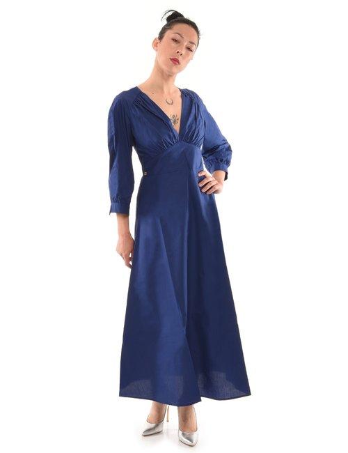 Vestito Manila Grace lungo - Blu