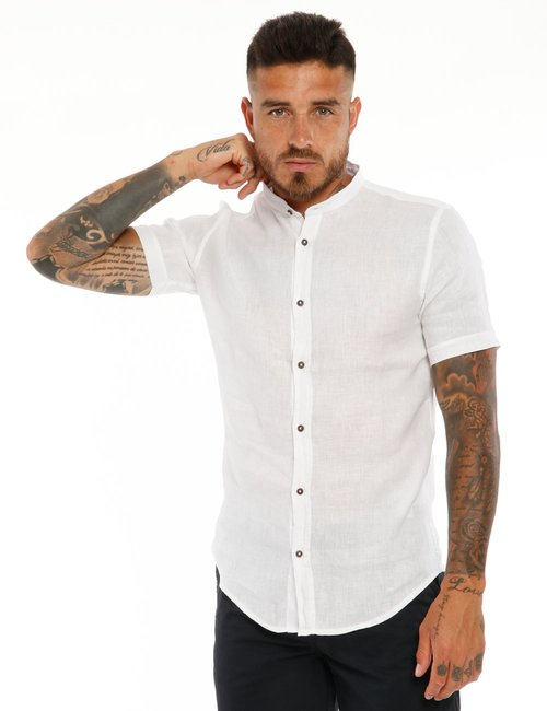 Camicia AFF in lino - Bianco