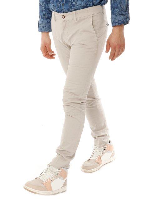 Pantalone Asquani con logo inciso - Beige