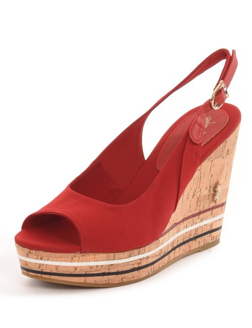 Sandalo U.S. Polo Assn. in tessuto - Rosso