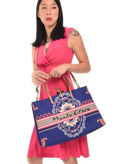 Borsa Manila Grace con inserto estraibile - Blu