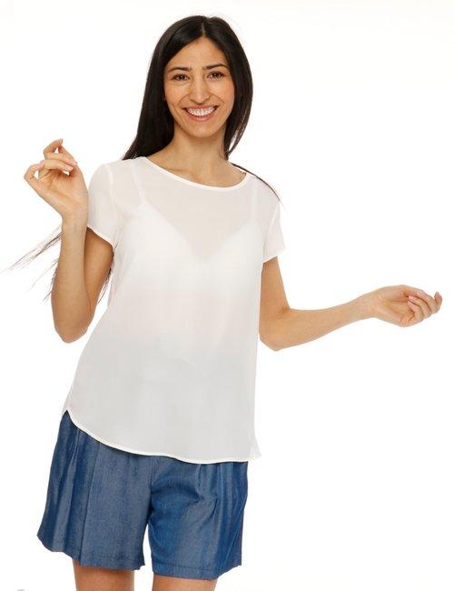 Camicia Vougue a maniche corte - Bianco