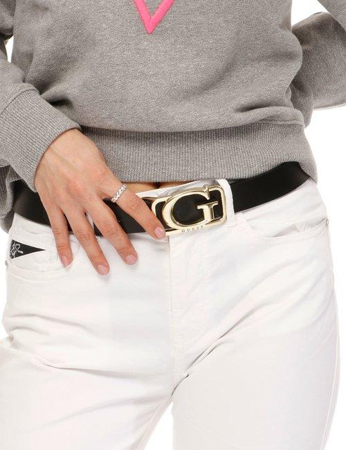 Cintura Guess con logo - Nero