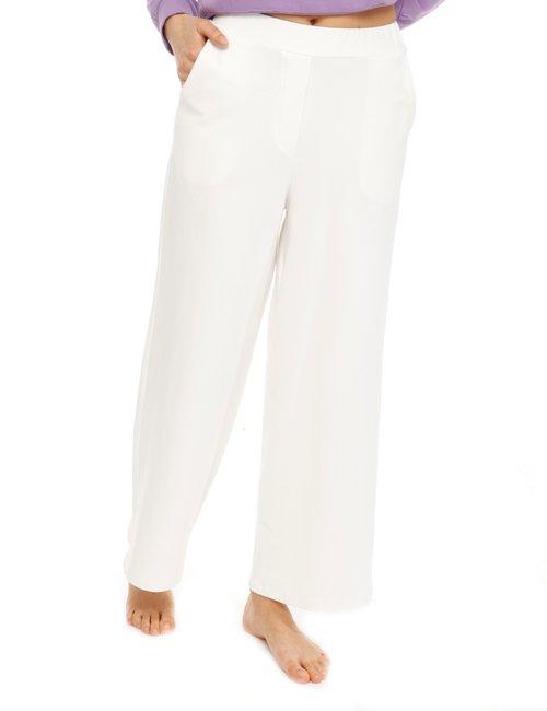Pantalone Vougue in cotone con tasche - Bianco