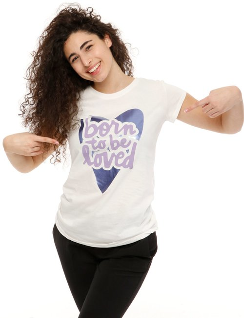 T-shirt Vougue con stampa - Bianco
