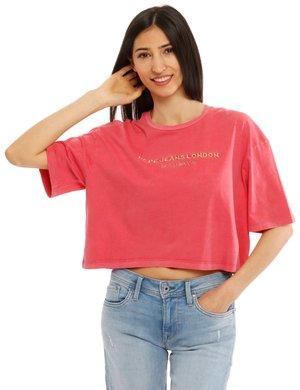 T-shirt Pepe Jeans con scritta ricamata